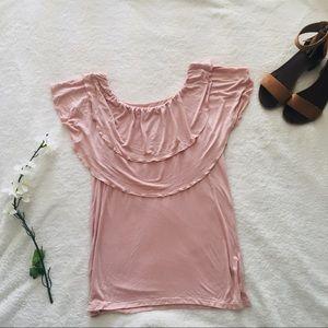 $5 W/ BUNDLE New York & Company Pink Flutter Top